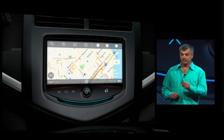 Apple: iOS 7 mit Multitasking und neuem Interface - Apple Maps im Auto (Bild: Apple/Screenshot: Golem.de)