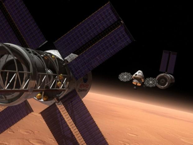 Und mit diesem Raumfahrzeug sollen sie angesteuert werden: das Orion MPCV. (Bild: Nasa)