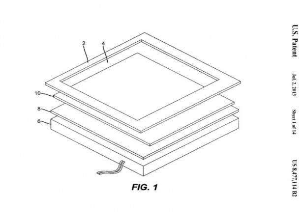Patent 8,477,114 mit zwei Bildschirmen übereinander (Bild: US-Patent- und Markenamt)