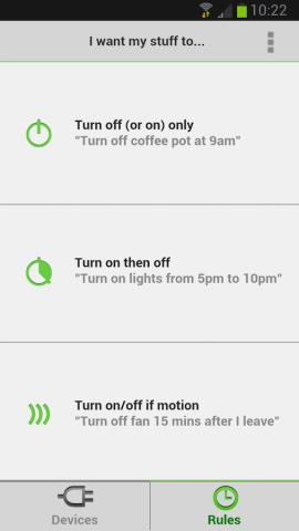 Android-App für Wemo (Bild: Belkin)
