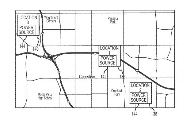 Im Patentantrag beschreibt Apple eine Funktion, die sich Ladestandpunkte merkt und daraus einen Akku-Management-Plan erstellt. (Bild: Apple/USPTO)