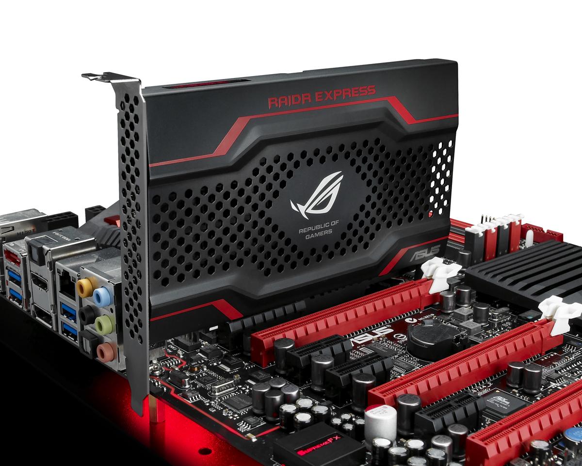 Asus Raidr: Schnelle PCI-Express-SSD bootet auch mit altem Bios - Asus' neue SSD auf einem Mainboard