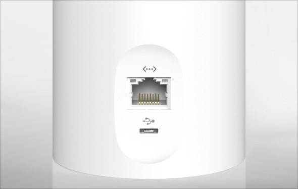 Canary mit Ethernet-Anschluss  (Bild: Indiegogo)