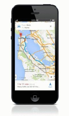 Google Maps 2 für iOS auf dem iPhone (Quelle: Google)