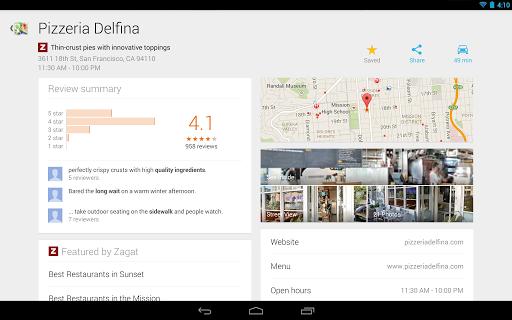 Google Maps 7 für Android auf Tablets (Quelle: Google)