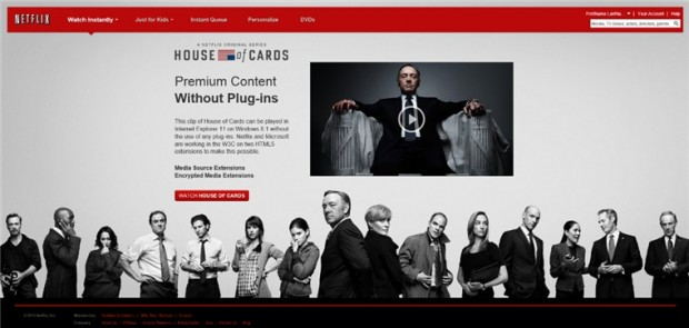 Encrypted Media Extensions ermöglichen es Netflix, DRM-geschützte Videos ohne Plugins darzustellen.