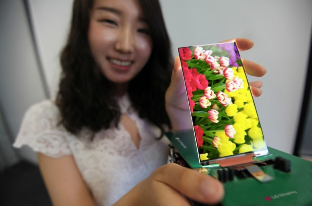 Flaches Display für Smartphones (Bild: LG)