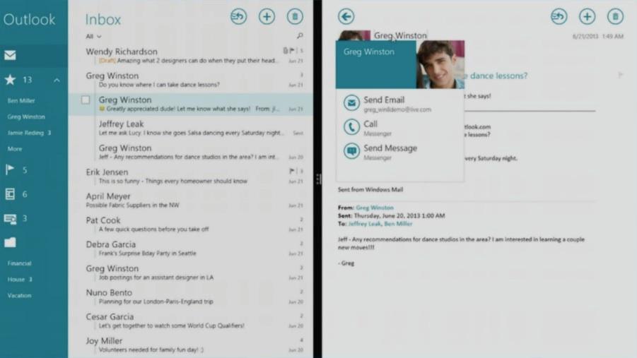 Microsoft: Neue Mail App für Windows 8.1 -