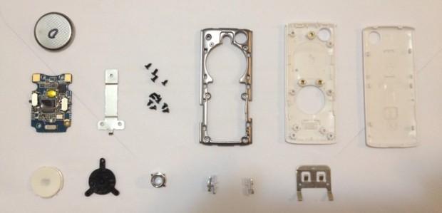 Muku Shuttr in Einzelteilen (Bild: Kickstarter)