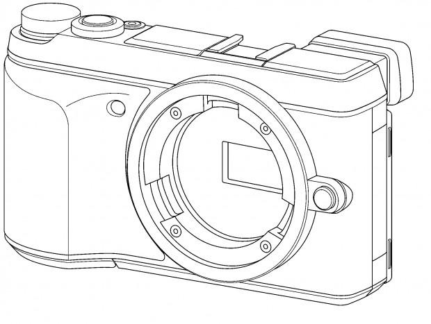 Namenlose Systemkamera als Geschmacksmusteranmeldung (Bild: Harmonisierungsamt für den Binnenmarkt)