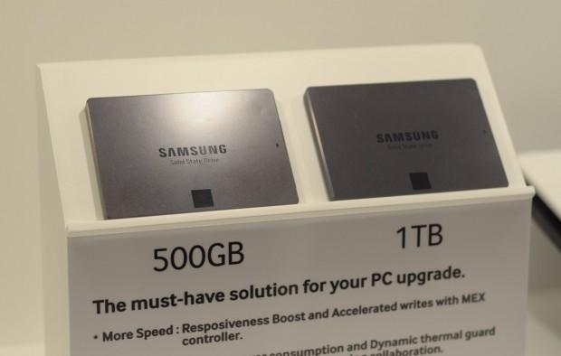 Samsungs neue SSD-Serie gibt es mit bis zu 1 TByte. (Foto: Andreas Sebayang/Golem.de)
