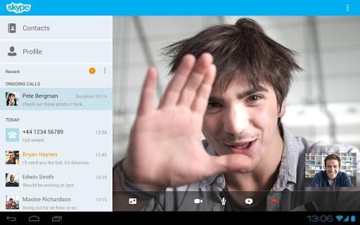 Skype 4.0 für Android auf dem Tablet (Bild: Microsoft)