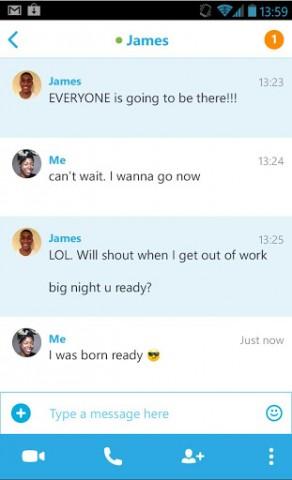 Skype 4.0 für Android auf dem Smartphone (Bild: Microsoft)