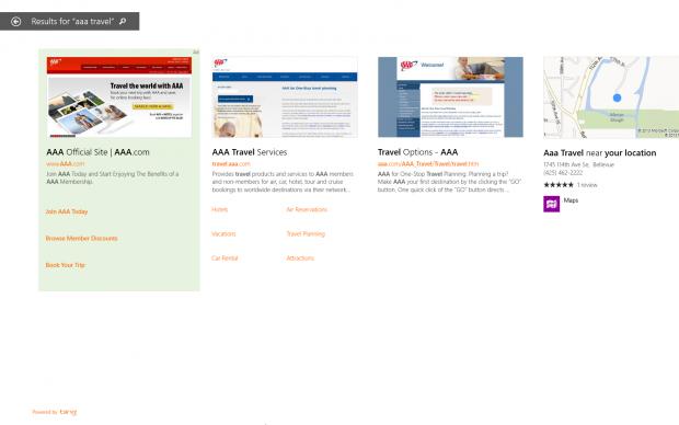 Werbeanzeige (l.) in Suchergebnissen von Smart Search (Bild: Microsoft)