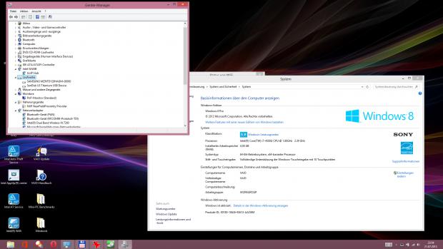 Viele neue Komponenten und der Desktop bei 1.920 x 1.080 Pixeln (Screenshot: Golem.de)