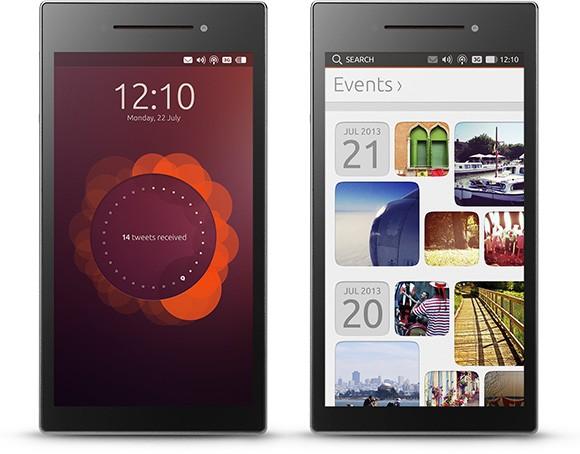 Ubuntu Phone auf dem Ubuntu Edge (Bild: Canonical)