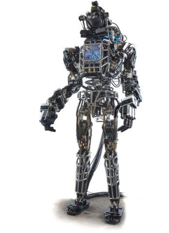 Atlas ist ein knapp 1,9 Meter großer, humanoider Roboter. (Bild: Boston Dynamics/Darpa)