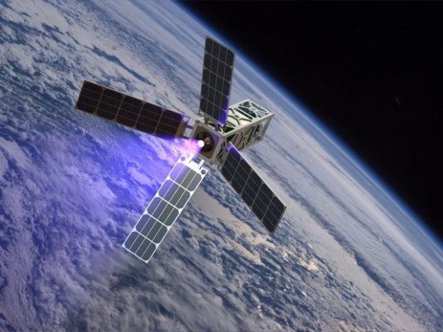 So könnte ein Cubesat mit Cat aussehen. (Bild: Benjamin Longmier)