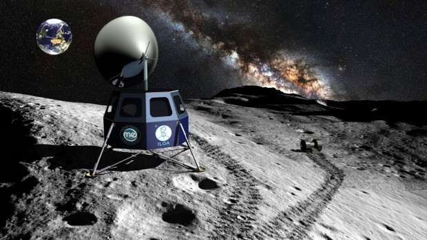 Künstlerische Darstellung des Mondobservatoriums Ilo. Rechts ist einer der Mondroboter zu sehen, die Moon Ex plant. (Bild: Iloa/Moon Ex)
