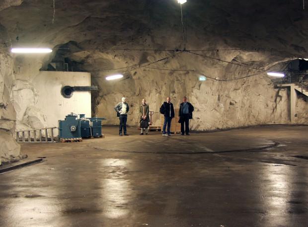 Der Bunker, der als Rechenzentrum für Bahnhof dient, musste ausgebaut werden. (Bild: Bahnhof)