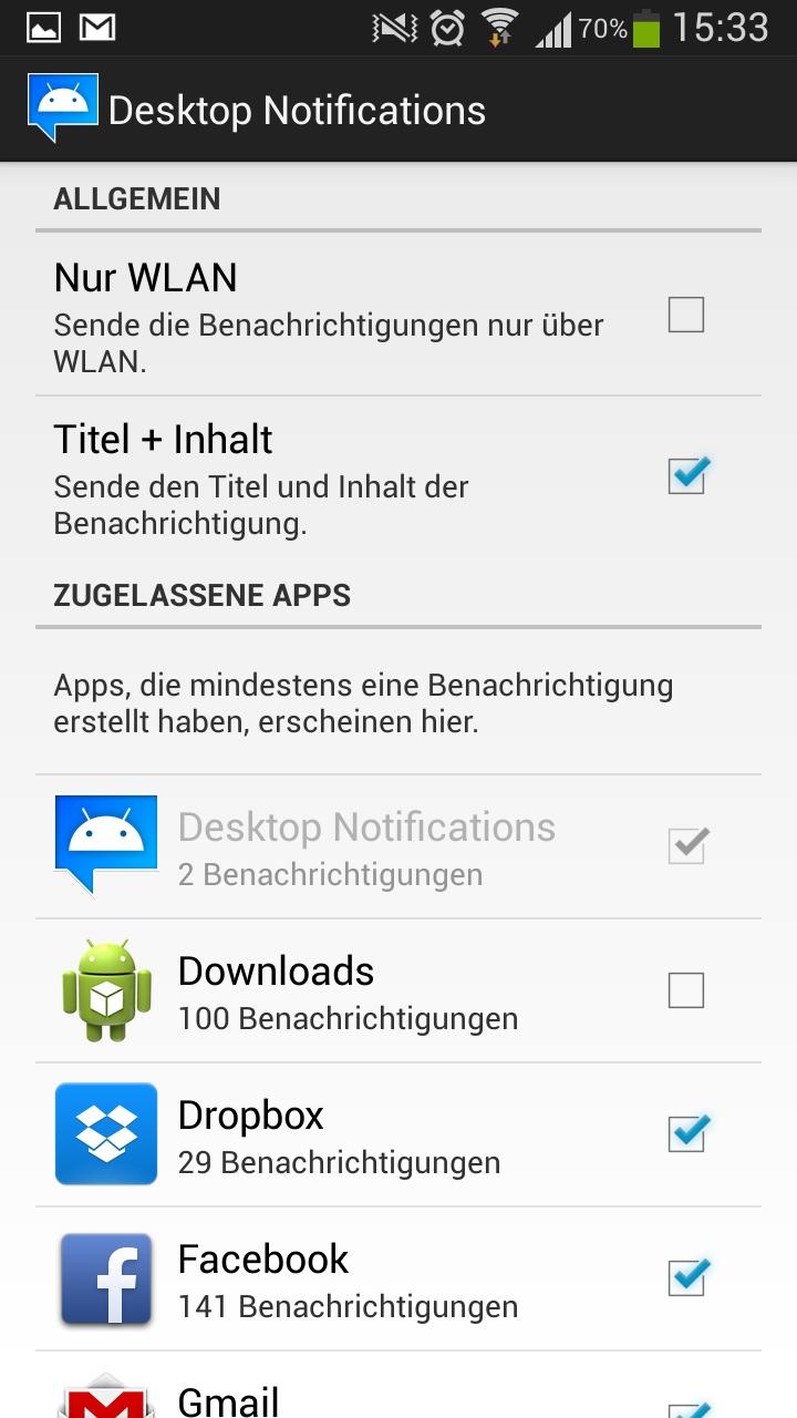 Desktop Notifications: Android-Benachrichtigungen auf dem PC anzeigen -