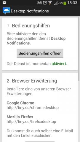 Android-Gerät und Computer werden einmalig mit Hilfe eines Passwortes verbunden. (Screenshot: Golem.de)
