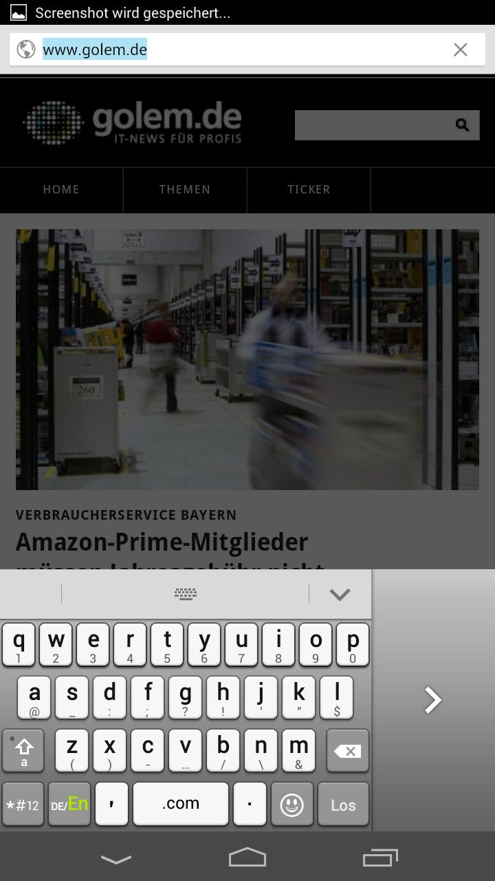 Huawei Ascend Mate im Test: Groß in fast jeder Hinsicht - ...oder links platzieren. (Screenshot: Golem.de)