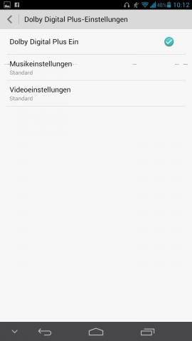 In den Dolby-Digital-Plus-Einstellungen lässt sich... (Screenshot: Golem.de)