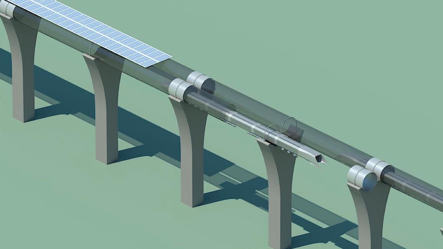 Hyperloop: Menschliche Rohrpost mit 1.220 km/h - Schemazeichnung des Hyperloop-Systems