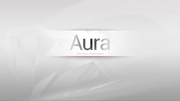 Der Ladebildschirm der Aura-Oberfläche (Screenshot: Golem.de)