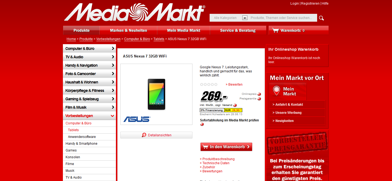 Offiziell: Neues Nexus 7 wird doch nicht so teuer -