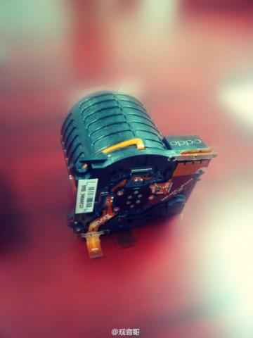 Die von Oppo gezeigte Komponente des Kameramoduls (Bild: Oppo)