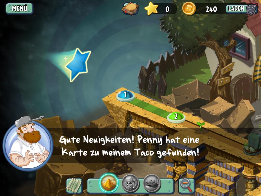 Plants vs. Zombies 2 angespielt: Erbsengemüse Reloaded - Per Zeitreise sind andere Umgebungen erreichbar.
