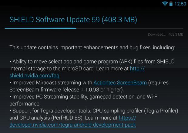 Das Update 59 bietet diverse neue Funktionen. (Screenshot: Golem.de)
