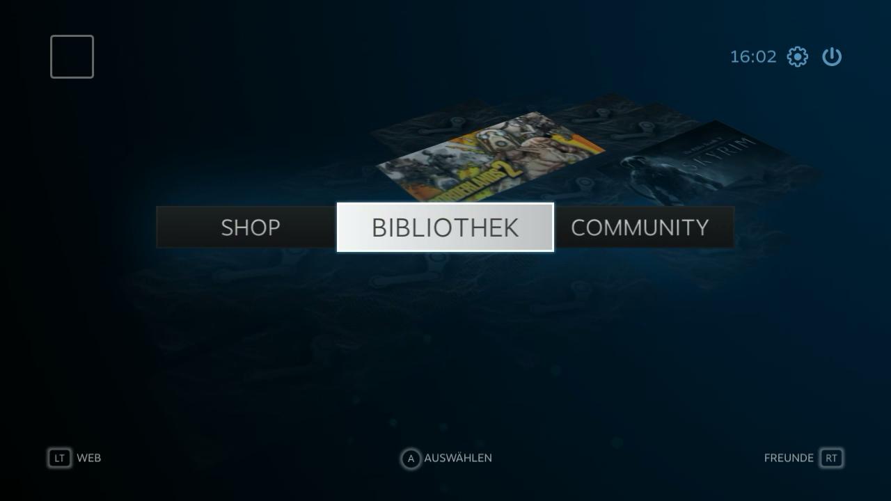 Nvidia Shield im Test: Android-Gameboy auf Steroiden - Steam startet beim Streaming automatisch im Big-Picture-Modus. (Screenshot: Golem.de)