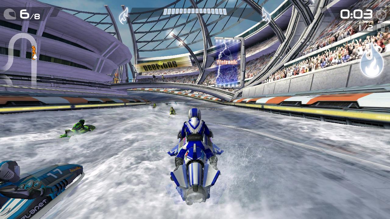 Nvidia Shield im Test: Android-Gameboy auf Steroiden - Effekte wie Normal Mapping auf dem Wasser lassen sich in Bildern nicht erfassen. (Screenshot: Golem.de)