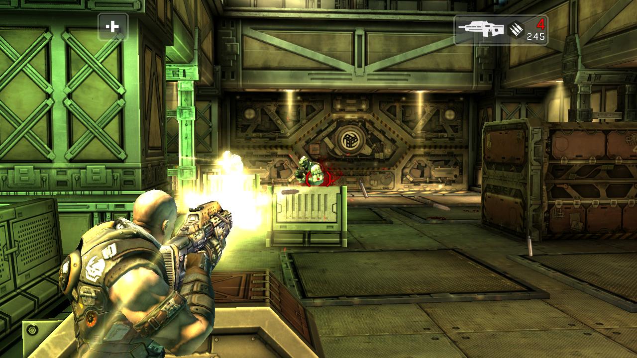 Nvidia Shield im Test: Android-Gameboy auf Steroiden - Shadowgun steuert sich wie ein klassischer Konsolen-Shooter. (Screenshot: Golem.de)