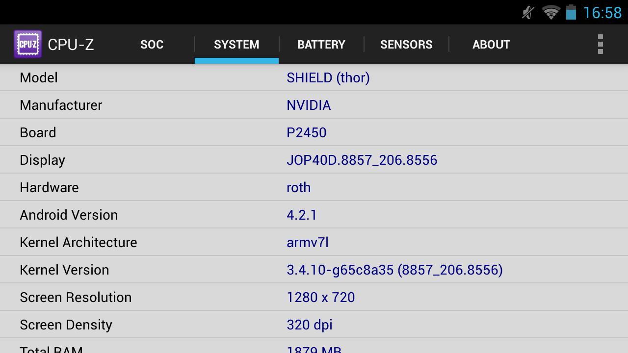 Nvidia Shield im Test: Android-Gameboy auf Steroiden - ... der Architektur und dem Display, ... (Screenshot: Golem.de)