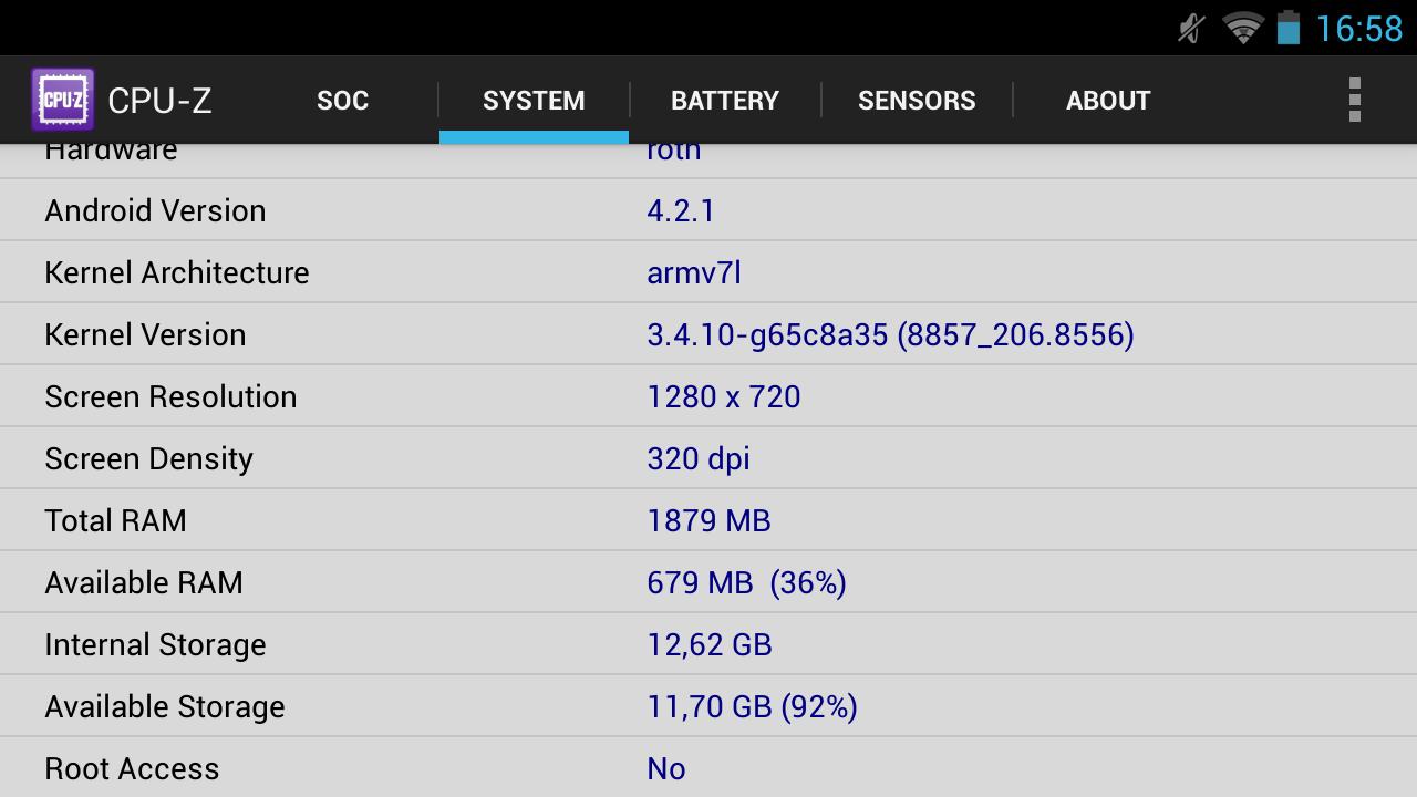 Nvidia Shield im Test: Android-Gameboy auf Steroiden - ... dem Speicher, ... (Screenshot: Golem.de)