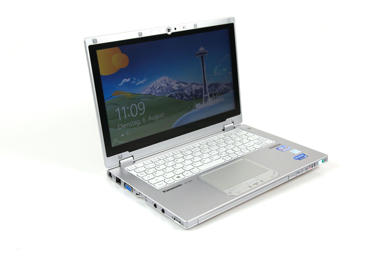 CF-AX2 im Test: Dünnes Toughbook mit Notfallakku und nerviger Tastatur - Das CF-AX2 ist aber nicht nur ein Notebook,... (Foto: Nina Sebayang/Golem.de)