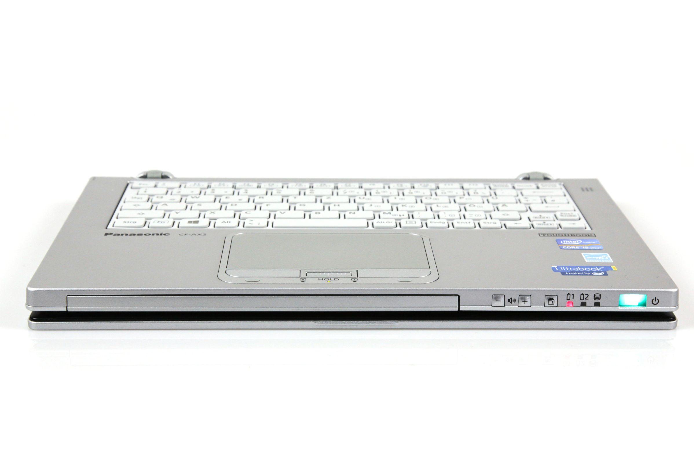 CF-AX2 im Test: Dünnes Toughbook mit Notfallakku und nerviger Tastatur - Die Tastatureingaben werden im Tablet-Modus ignoriert. (Foto: Nina Sebayang/Golem.de)