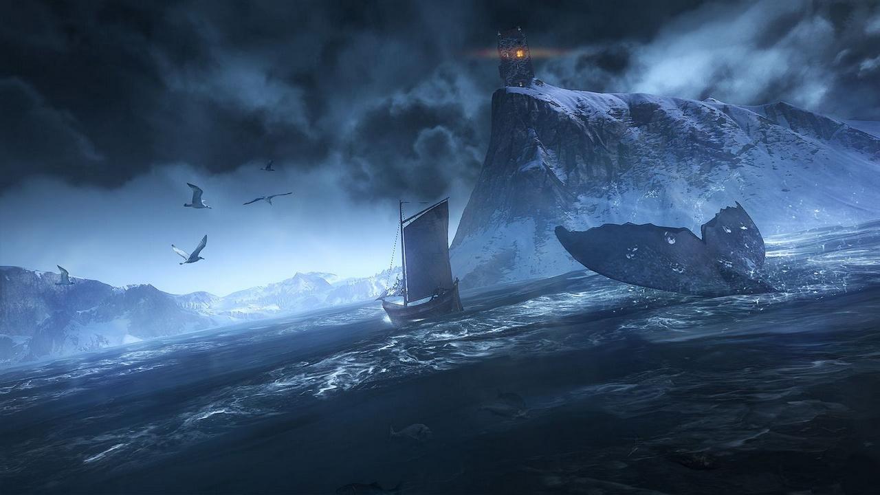 The Witcher 3: Des Hexers haarige Entwicklung - Das DX11-Meer ist den Entwicklern gut gelungen. (Screenshot: CD Projekt Red)