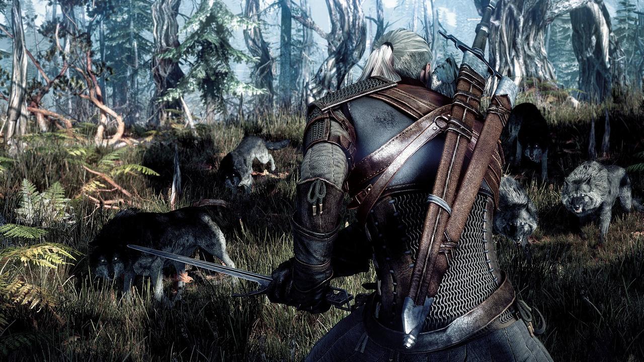 The Witcher 3: Des Hexers haarige Entwicklung - Zuvor aber schickt das Baumwesen Waldbewohner wie dieses Wolfsrudel in den Kampf. (Screenshot: CD Projekt Red)