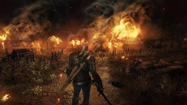 Der Hexer hört, dass ein Dorf von der Wilden Jagd zerstört wurde und... (Screenshot: CD Projekt Red)