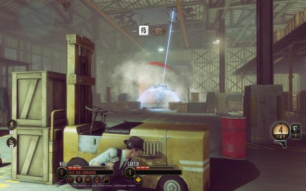 Agent Carter geht in Deckung, während eine Sonde neue Aliens bringt.