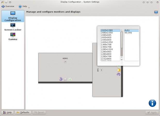 Die Unterstützung von mehreren angeschlossenen Bildschirmen wurde verbessert. (Bild: KDE)