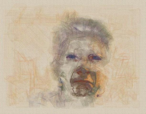 Der Computer malt: Sad von der Malsoftware Painting Fool (Bild: Thepaintingfool.com)