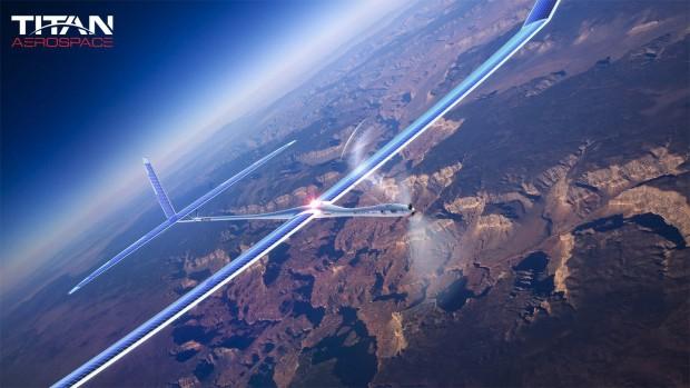 Solara 50 ist ein unbemanntes Flugzeug, das mit Solarstrom betrieben wird. (Bild: Titan Aerospace)