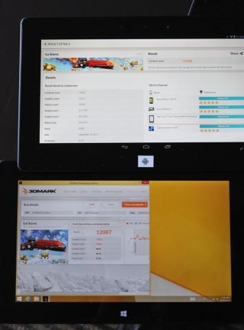 Android ist schneller als Windows - wenigstens beim 3DMark mit Atom Z3770.