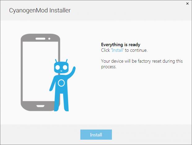 Geplanter Installer für Cyanogenmod (Bild: Cyanogenmod)